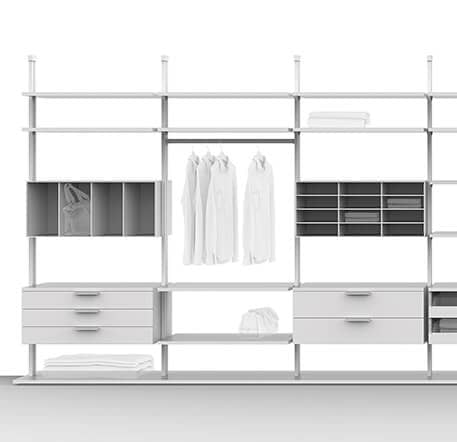 das prinzip des centric regalsystems ars nova. Black Bedroom Furniture Sets. Home Design Ideas