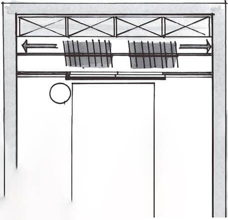 A sketch of the Beta Quattro wardrobe can be seen here.