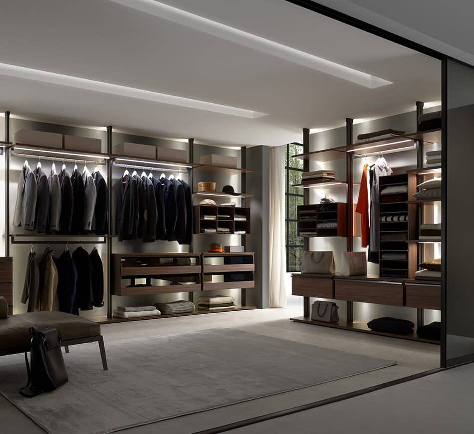Centric by Ars Nova Collection: Wardrobe in dark walnut